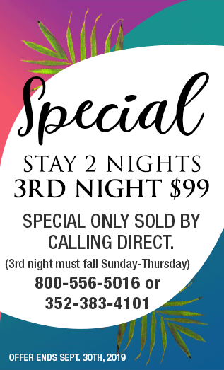 Special - 3r night for $99