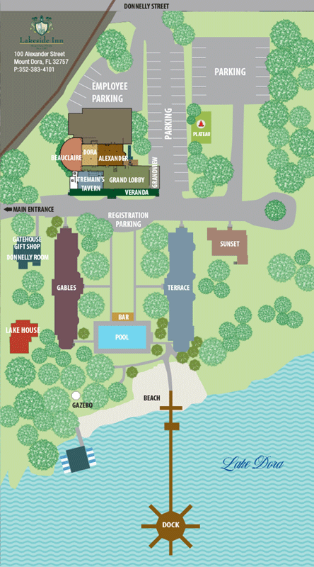 Lakesie Inn Grounds map 1