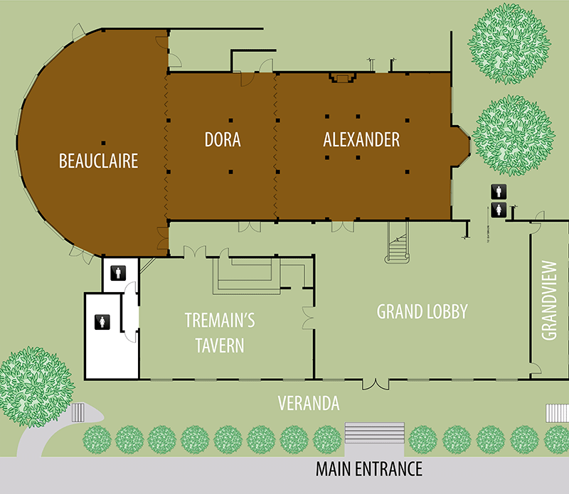 link to image larger beauclaire, dora, alexander compbination floor plan